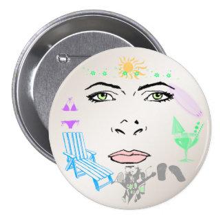 Summer Girl Button