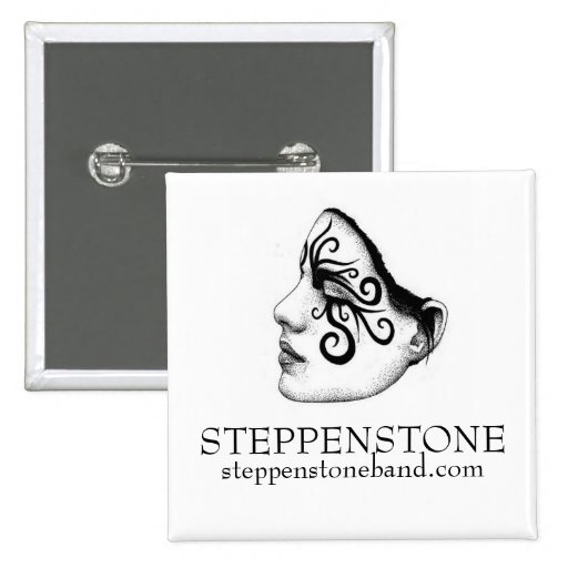 Summer girl face pdf, STEPPENSTONE, steppenston... 2 Inch Square Button