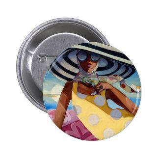 Summer Girl III Pinback Buttons