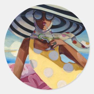 Summer Girl III Round Sticker