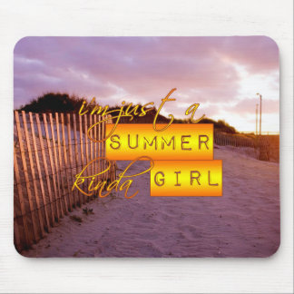 Summer Girl Mouse Pad