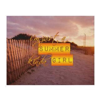 Summer Girl Wood Print