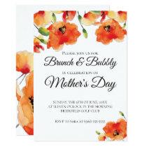 Summer Golden Poppy Mother's Day Brunch Invitation