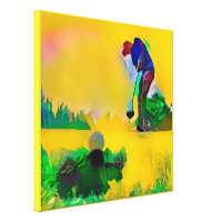 Summer Golf - Stretched Canvas Print