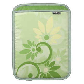 Summer Green Leaf and Flowers Sleeves For iPads