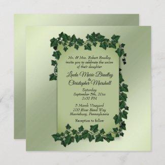 Summer Green Vines Wedding Invitation