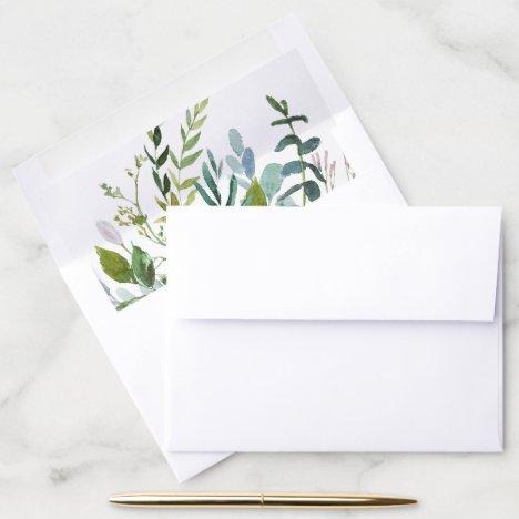 Summer Greenery Envelope Liner