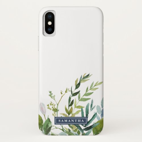 Summer Greenery Personalized Name Phone Case