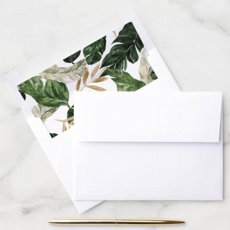 Summer Greenery Wedding Envelope Liner