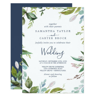 Summer Greenery Wedding Invitation