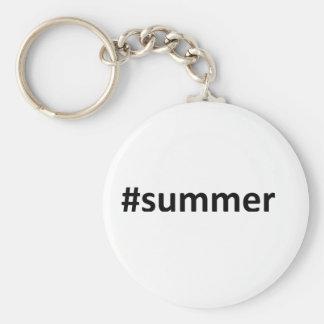 Summer Hashtag Keychain
