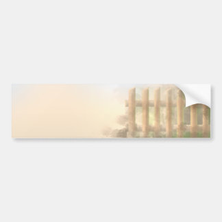 summer haze landscape design car bumper sticker