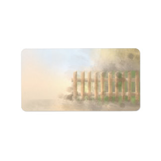 summer haze landscape design personalized address labels