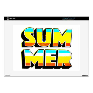 """Summer Heat Decal For 15"""" Laptop"""