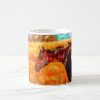 Summer Heat - Horse Painting Coffee Mug