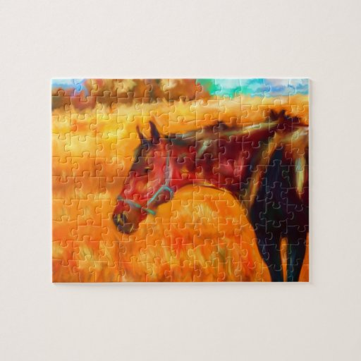 Summer Heat - Horse Painting Puzzle
