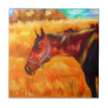 Summer Heat - Horse Painting Tile