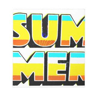 Summer Heat Notepad