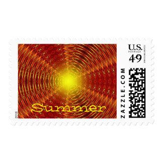 Summer Heat Postage Stamp