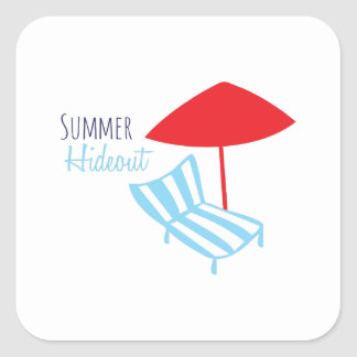 Summer Hideout Square Stickers