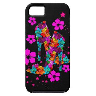 Summer High Heel Shoes Hot Pink Flowers iPhone 5 Case
