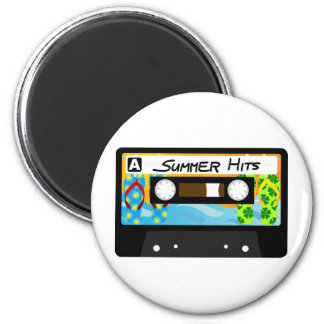 Summer Hits Tape 2 Inch Round Magnet