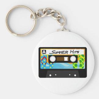 Summer Hits Tape Basic Round Button Keychain