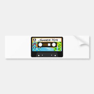 Summer Hits Tape Car Bumper Sticker