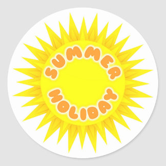 Summer Holiday Classic Round Sticker