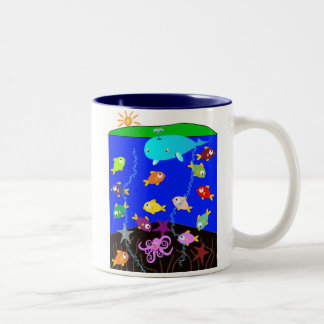 Summer Holiday in the Ocean Two-Tone Coffee Mug