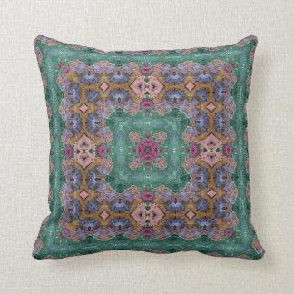 Summer Holiday Kaleidoscope Design No 2 Throw Pillow
