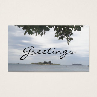 Summer Holiday Mediterranean Sea Photography Business Card