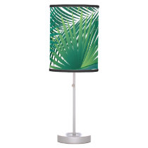 Summer Holiday Tropical Palm tree Green leafs Desk Lamp