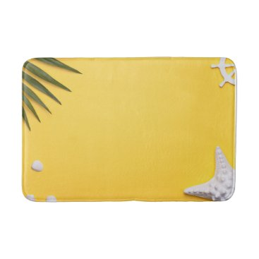 Beach Themed Summer Holiday Vacation Background Bathroom Mat