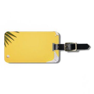Beach Themed Summer Holiday Vacation Background Luggage Tag