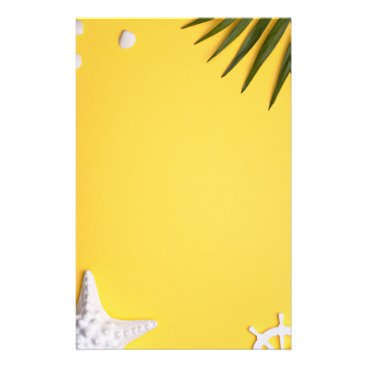 Beach Themed Summer Holiday Vacation Background Stationery