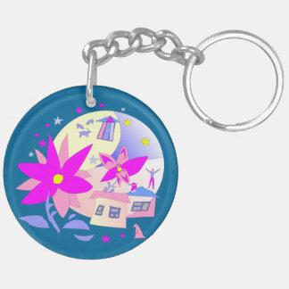 Summer Holidays Double-Sided Round Acrylic Keychain