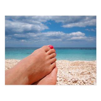 Summer holidays postcard