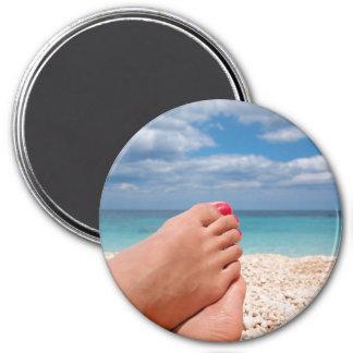 Summer holidays round magnet