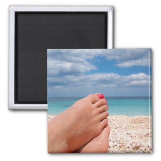 Summer holidays square magnet