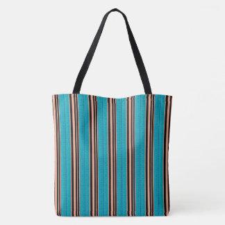Summer-Home-Blue-Orange-Totes-Shoulder-Bag Tote Bag