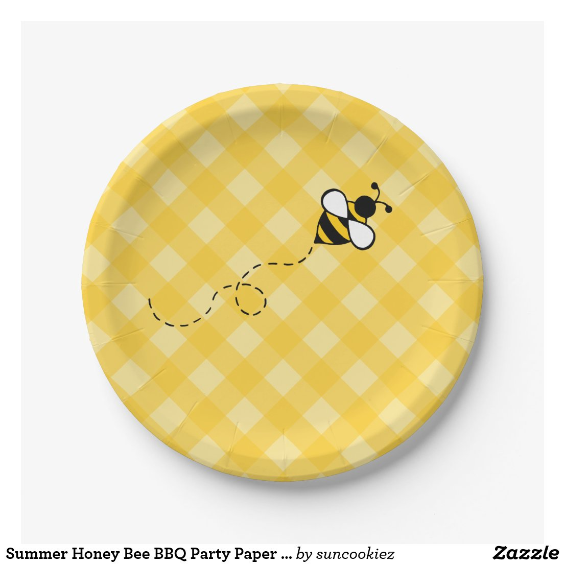 Summer Honey Bee BBQ Party Paper Plates