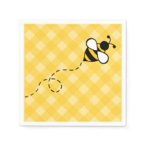 Summer Honey Bee Party Picnic Napkins