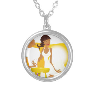 Summer honeymoon silver plated necklace