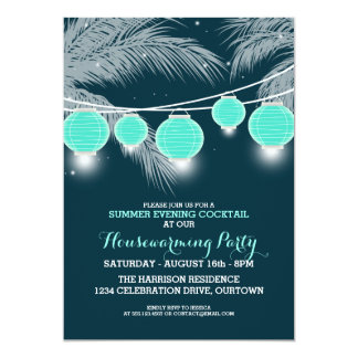 Summer Housewarming Cocktail Party Invitations