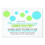 "Summer Housewarming Patio Party Invitation 5"" X 7"" Invitation Card"