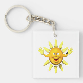 Summer Hugs Single-Sided Square Acrylic Keychain