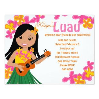 Summer Hula Ukulele Card