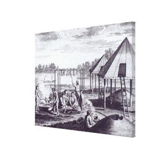 Summer Huts Canvas Print