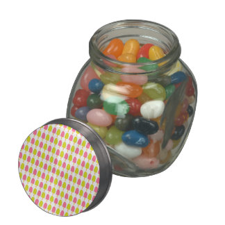 Summer Ice Cream Bars Glass Candy Jars